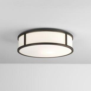 Astro Mashiko 300 Round LED Flush Light - Bronze