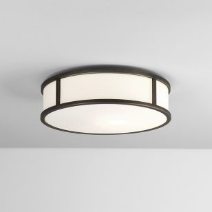 Astro Mashiko 300 Round Flush Light - Bronze