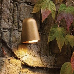 Astro Coastal Mast Outdoor Wall Light - Antique Brass