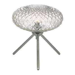 Dar Bibiana Glass Table Lamp - Clear