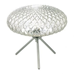 Dar Large Bibiana Glass Table Lamp - Clear