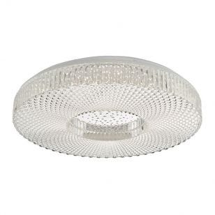 Dar Large Cimona LED Flush Ceiling Light - Clear