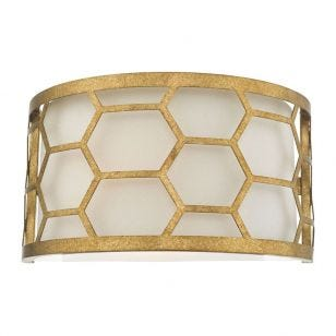 Dar Epstein Flush Wall Light - Gold Leaf