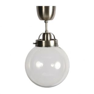 Edit Normandy Glass Semi-Flush Ceiling Light - Antique Silver