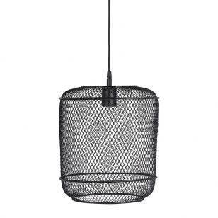 Edit Grid Ceiling Pendant Light with Plug - Black
