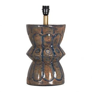 Edit Larry Ceramic Statement Table Lamp - Base Only - Dark Blue
