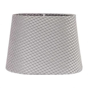 Edit Omera Velvet Lamp Shade - Grey