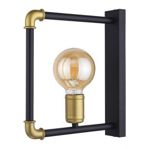 Edit Pipeline Wall Light - Black