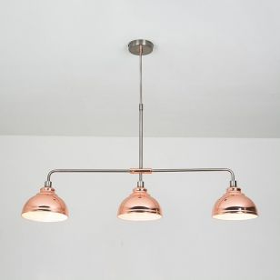 Edit Saloon 3 Light Bar Ceiling Pendant - Copper