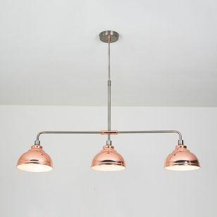 Edit Saloon 3 Light Bar Ceiling Pendant - Copper