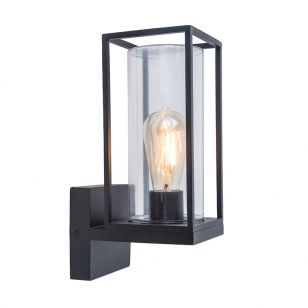 Flair Outdoor Lantern Wall Light - Dark Grey