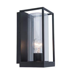 Flair Half Lantern Outdoor Wall Light - Dark Grey