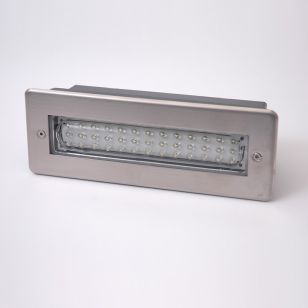 Recessed LED Outdoor Wall Light - Stainless Steel