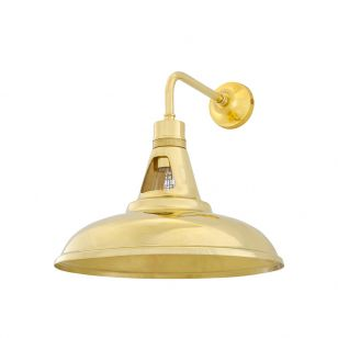 Mullan Geneva Wall Light - Polished Brass