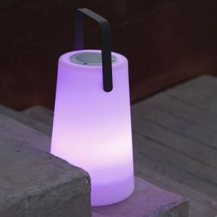 Stereo Battery Operated Colour Changing LED Portable Speaker Light