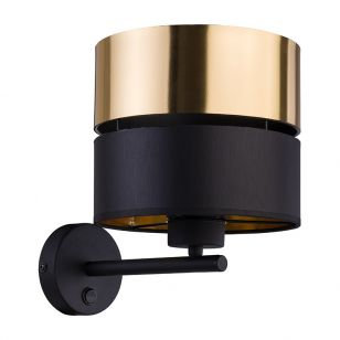 Edit Soho Wall Light - Black & Gold