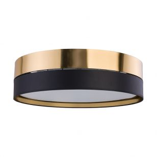 Edit Soho Flush Ceiling Light - Black & Gold