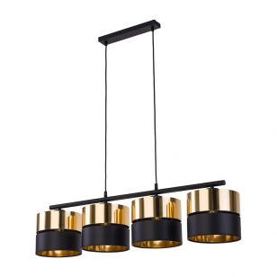 Edit Soho 4 Light Bar Ceiling Pendant - Black & Gold