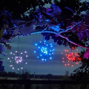Starburst Solar LED String Lights - 3 Lights