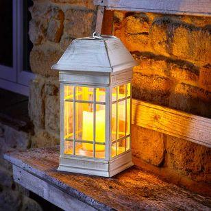 Seville Outdoor Solar LED Lantern - Cream