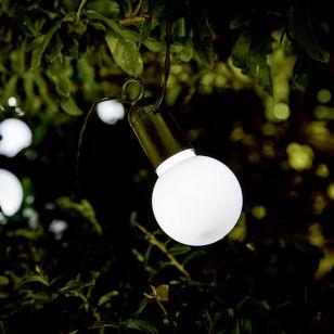 13.97M 365 Solar White LED Festoons Lights - 20 Lights