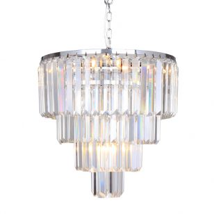 Edit Grand Glass Chandelier - Chrome
