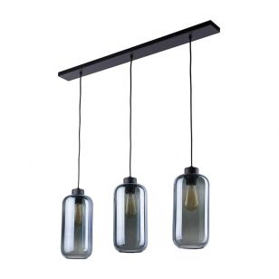 Edit Hollow 3 Light Glass Bar Ceiling Pendant - Smoked
