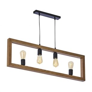Edit Tetra 4 Light Bar Ceiling Pendant - Black
