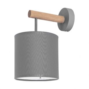 Edit Timber Wall Light - Graphite