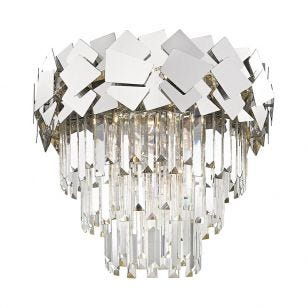 Edit Jazz Flush Ceiling Light - Silver