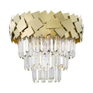 Edit Jazz Flush Ceiling Light - Gold
