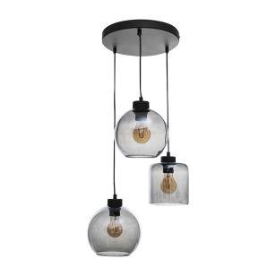 Edit Cask 3 Light Glass Cascade Ceiling Pendant - Graphite