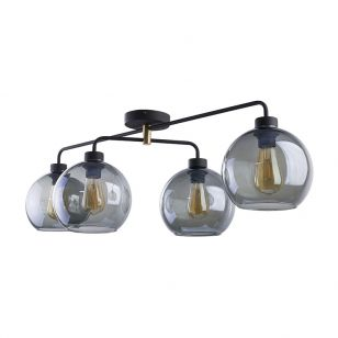 Edit Tumbler 4 Arm Glass Ceiling Pendant Light - Smoked
