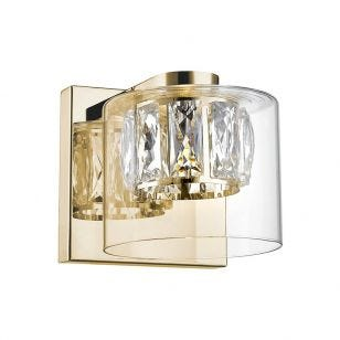 Gem LED Wall Light - Gold