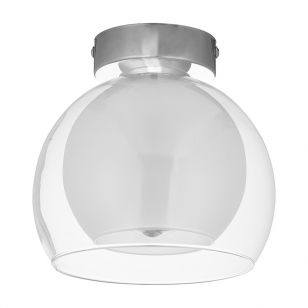 Edit Austell Flush Glass Ceiling Light - White
