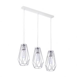 Edit Wire 3 Light Bar Ceiling Pendant - Chrome