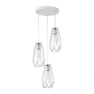 Edit Wire 3 Light Cascade Ceiling Pendant - Chrome