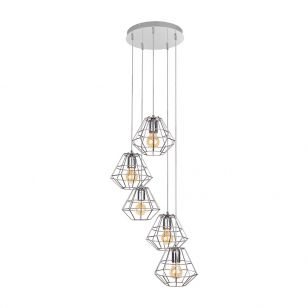Edit Web 5 Light Cascade Ceiling Pendant - Chrome