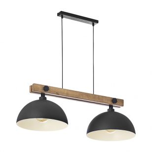 Edit Metro 2 Light Bar Ceiling Pendant - Black