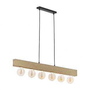 Edit Brook 6 Light Bar Ceiling Pendant - Black