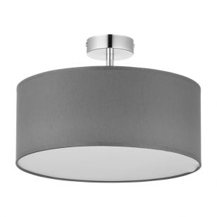 Edit Basic 40 Semi-Flush Ceiling Light - Graphite