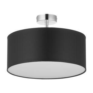 Edit Basic 40 Semi-Flush Ceiling Light - Black