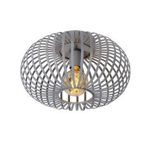 Lucide Manuela Flush Ceiling Light - Grey