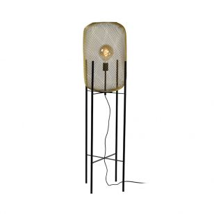 Lucide Mesh Floor Lamp - Satin Brass