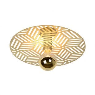 Lucide Olenna Semi-Flush Ceiling Light - Gold