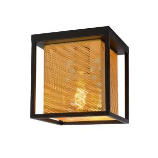 Lucide Sansa Flush Ceiling Light - Black & Gold