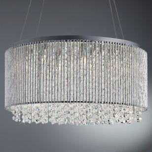 Crystal Chandelier - Chrome