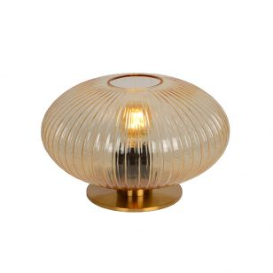 Lucide Virgil 20 Glass Table Lamp - Amber