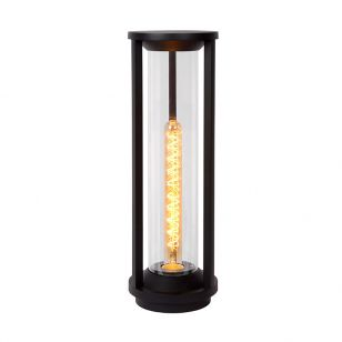 Lucide Cadix Outdoor Tall Pedestal Light - Black