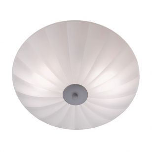 Sirocco 44 Glass Flush Ceiling Light - White